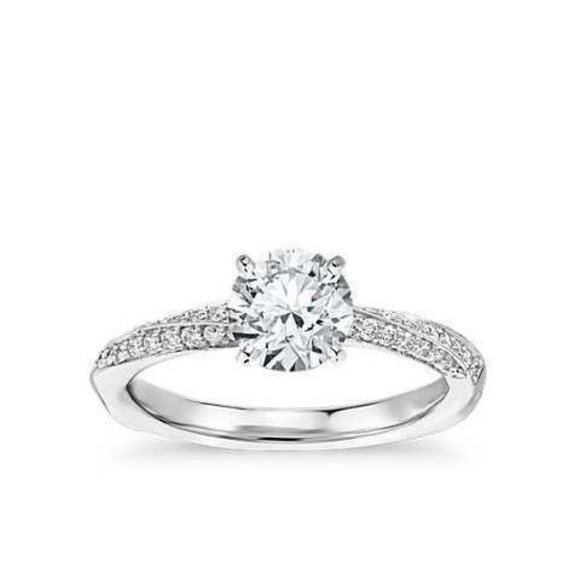 Jewelry - Solitaire with accent CVD diamonds 1.90 Carats